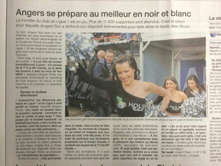 Angers se prépare au meilleur en noir et blanc