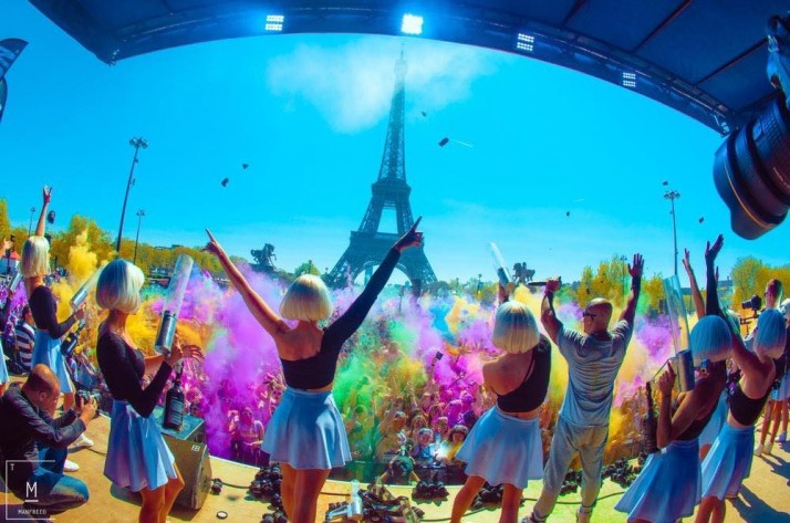 Un show mémorable devant 25000 spectateurs pour la Color Run !