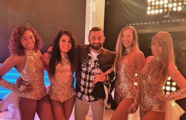 Pom-Pom girls sur le plateau de «Touche pas à mon poste»  avec Cyril Hanouna