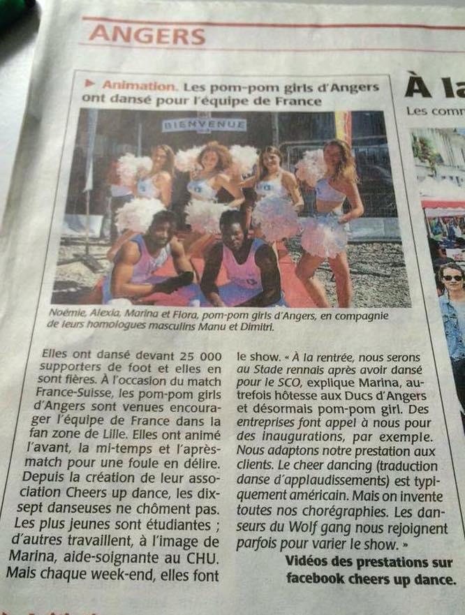 Les pom-pom girls d'Angers ont dansé pour l'équipe de France